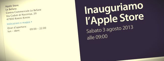 Apple Store: da sabato anche a Rimini