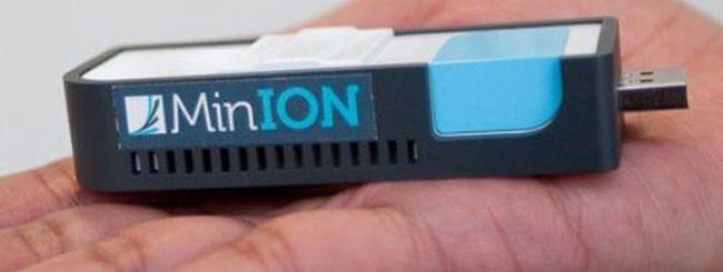 MinION DNA Sequencer: il DNA in una chiavetta USB