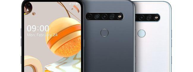 LG K61, K51S e K41S: quattro fotocamere posteriori