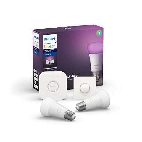 Philips Lighting Hue White and Color Starter Kit con 2 Lampadine