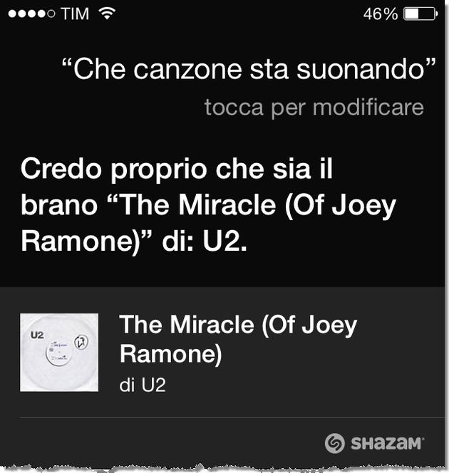 iOS 8 Siri Shazam