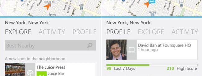 Foursquare aggiorna l'app per Windows Phone 8