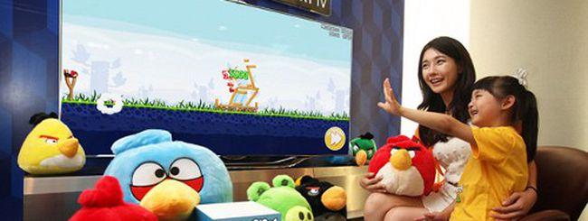 Samsung Smart TV, Angry Birds si giocherà con gesti e voce