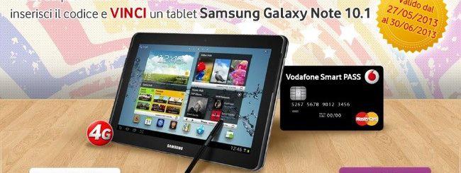 Vodafone Smart Pass regala un Galaxy Note 10.1