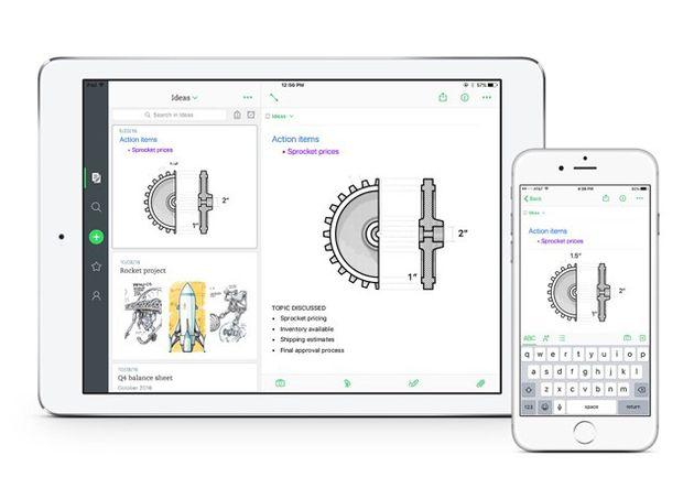 Evernote per iOS