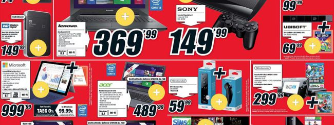 Volantino Mediaworld di Natale: Lumia 635 a 129€