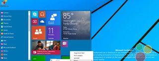 Un primo sguardo al menu Start di Windows 9