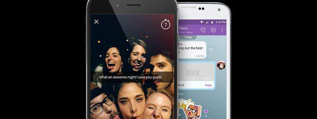 Viber Wink, foto e video a tempo