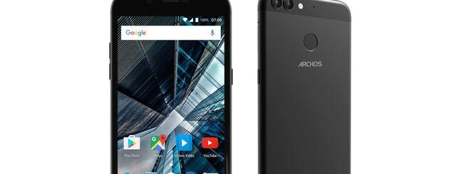 Archos Graphite 50 e 55, smartphone dual camera