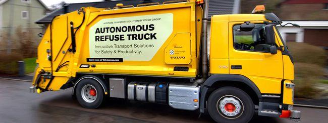 Volvo: guida autonoma anche sui camion dei rifiuti