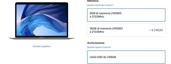 MacBook e Mac mini: Apple cala i prezzi di SSD e RAM