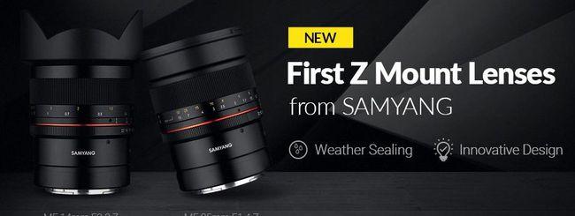 Samyang annuncia le sue prime ottiche Z-Mount