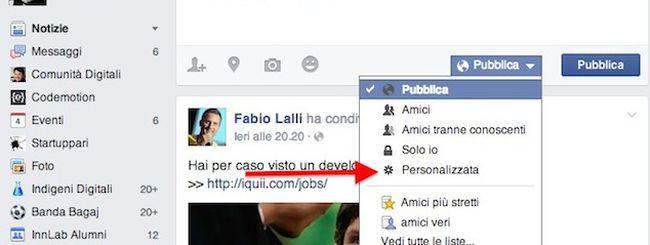 Facebook privacy personalizzata: come impostarla