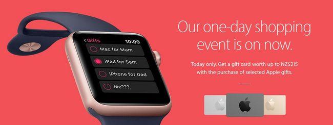 Apple: solo gift card per il Black Friday