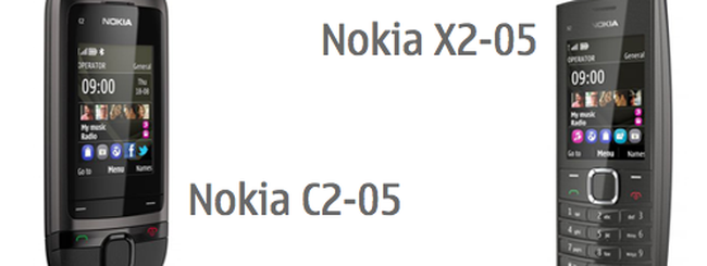 Nokia X2-05 e C2-05, cellulari social per tutti