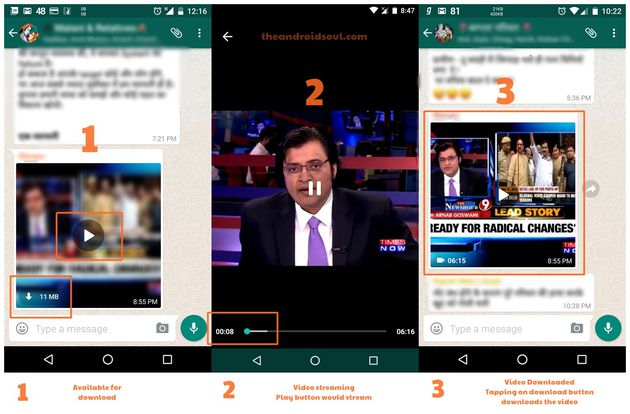 WhatsApp streaming video