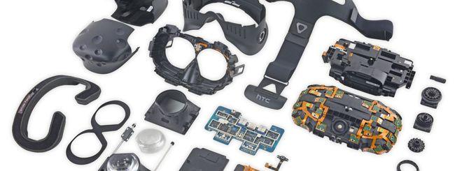 HTC Vive, molti sensori e poca colla