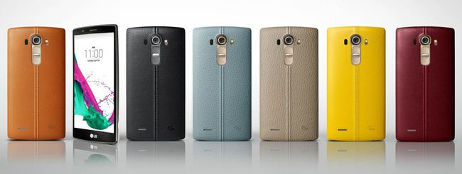 LG G4, fashion phone con cover in pelle