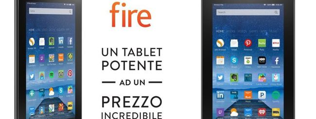 Amazon annuncia un tablet Fire da 60 euro