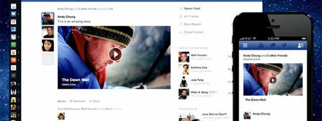 nuova feed Facebook