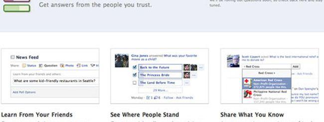 Facebook, le domande si fanno con Questions