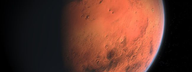 Marte, cratere tinge la superficie di blu e nero