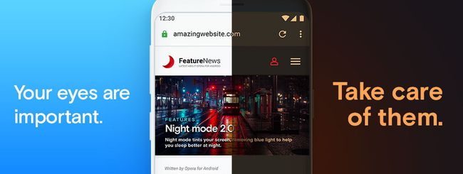 Opera 55 per Android scurisce tutte le pagine web