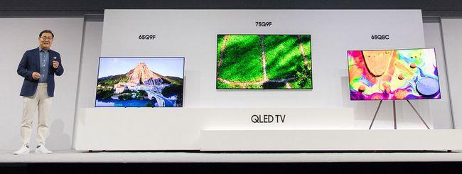 Samsung presenta la gamma di TV QLED per il 2018