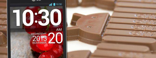 Android 4.4 KitKat da oggi su LG Optimus L9 II