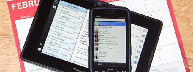 BlackBerry PlayBook, sincronizzare contatti e calendario Outlook