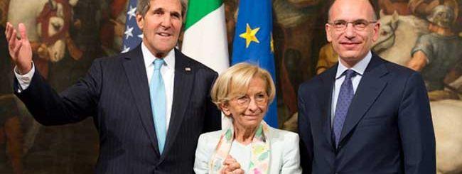 Datagate all'italiana: Letta incontra Kerry