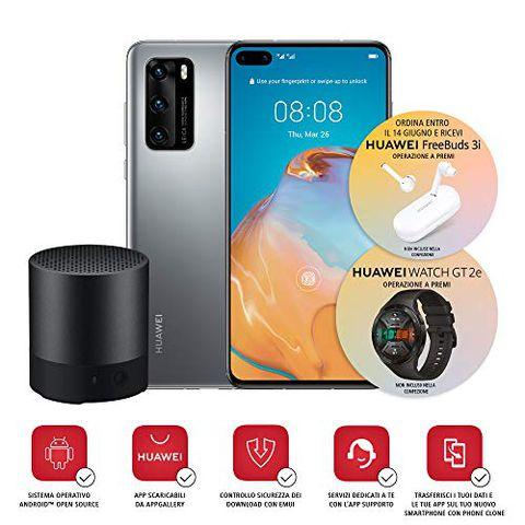 Huawei P40 con Bluetooth Speaker (Argento)