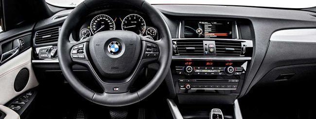 BMW X4, head-up display, app e servizi