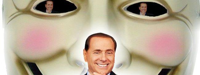 Anonymous all'attacco di Silvio Berlusconi