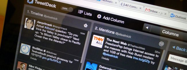 Twitter annuncia la fine TweetDeck per Windows
