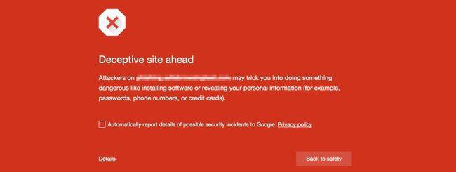 Google Chrome blocca i contenuti ingannevoli