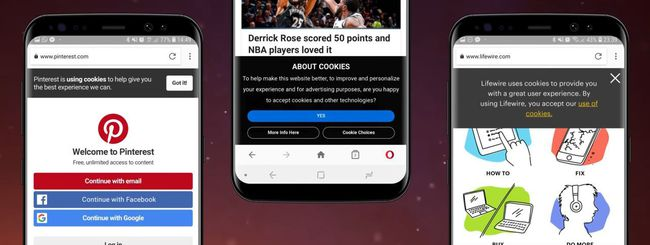 Opera 48 per Android blocca le notifiche dei cookie
