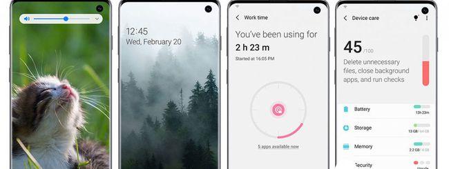 Samsung Galaxy S10, Android 10 e One UI 2.0 beta