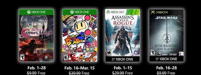 Microsoft svela i Games with Gold di febbraio 2019