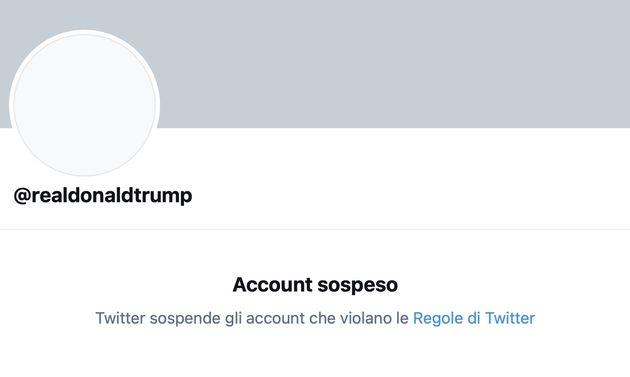 Trump Twitter Sospeso