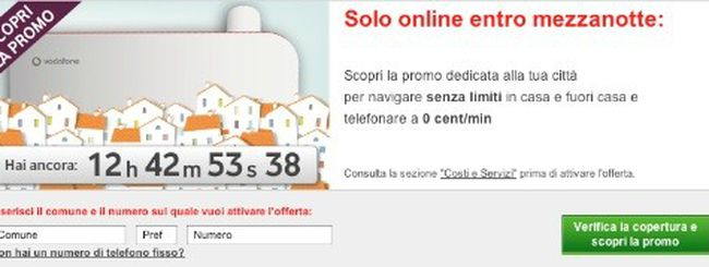 Vodafone ADSL Flat: promozione personalizzata a seconda della città in cui si abita