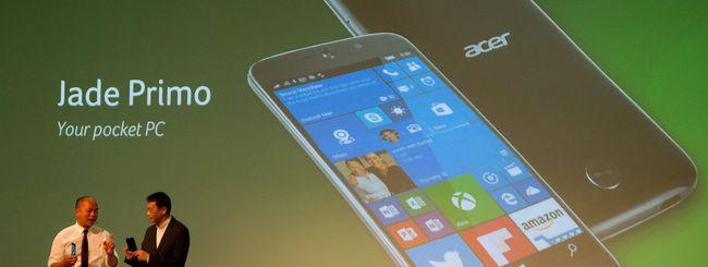 Acer Liquid Jade Primo: Windows 10 e Continuum