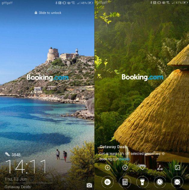 Huawei ads lock screen