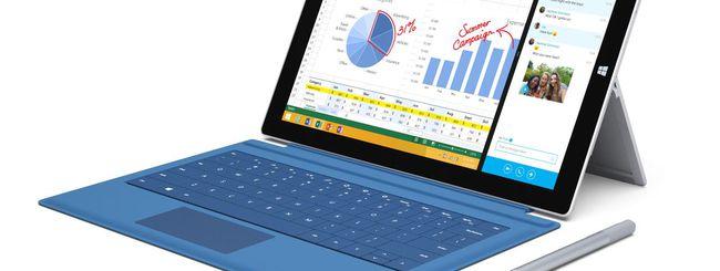 Microsoft: nuovo firmware per il Surface Pro 3