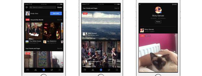 Facebook migliora il servizio di Live Video
