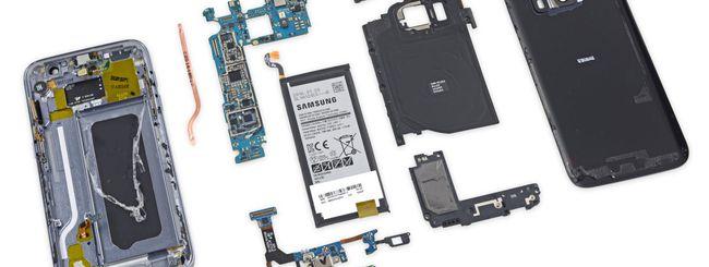Samsung Galaxy S7 fatto a pezzi da iFixit