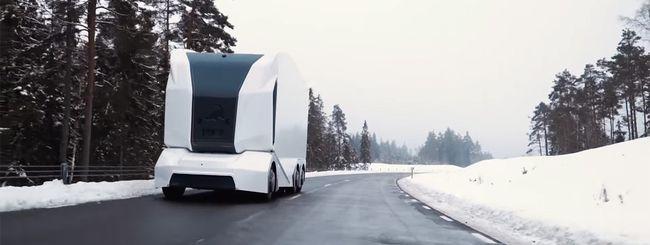 Einride T-pod, il self-driving truck con Drive AI