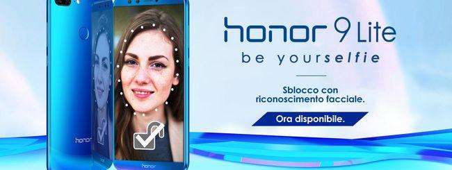 Honor 9 Lite, attivato il Face Unlock