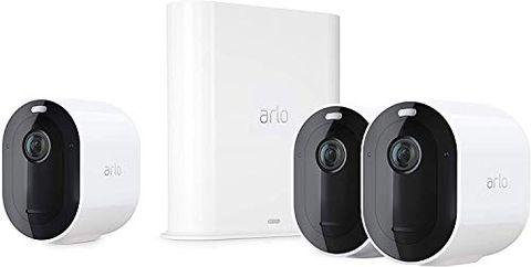 Arlo Pro3, Sistema di Videosorveglianza Wi-Fi con 3 Telecamere 2K HDR