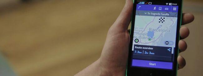 HERE Maps mostra la strada sui Nokia X
